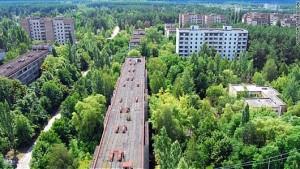 チェルノブイリ原発事故で最も放射線が検出された場所(ブリビャチの町)